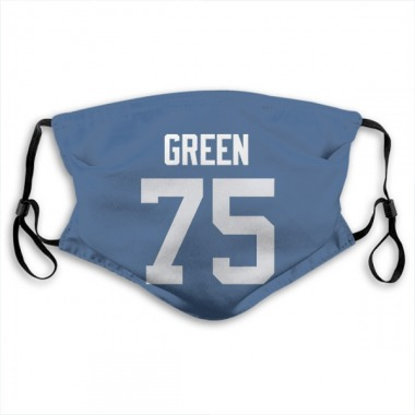 Indianapolis Colts Chaz Green Jersey Name and Number Face Mask - Royal