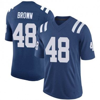 Men's Nike Indianapolis Colts Billy Brown 100th Vapor Jersey - Royal Limited