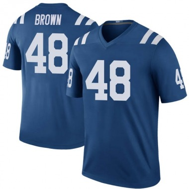 Men's Nike Indianapolis Colts Billy Brown Color Rush Jersey - Royal Legend
