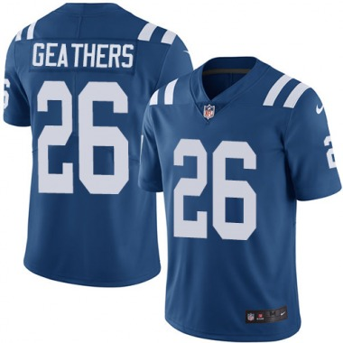 Men's Nike Indianapolis Colts Clayton Geathers Team Color Jersey - Royal Blue Limited