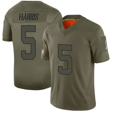 Men's Nike Indianapolis Colts De'Michael Harris 2019 Salute to Service Jersey - Camo Limited
