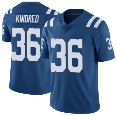 Men's Nike Indianapolis Colts Derrick Kindred Color Rush Vapor Untouchable Jersey - Royal Limited
