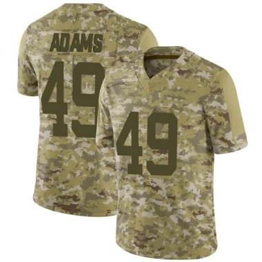 Men's Nike Indianapolis Colts Matthew Adams 2018 Salute to Service Jersey - Camo Limited