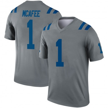 Men's Nike Indianapolis Colts Pat McAfee Inverted Jersey - Gray Legend