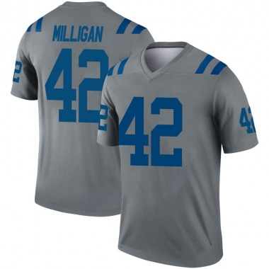 Men's Nike Indianapolis Colts Rolan Milligan Inverted Jersey - Gray Legend