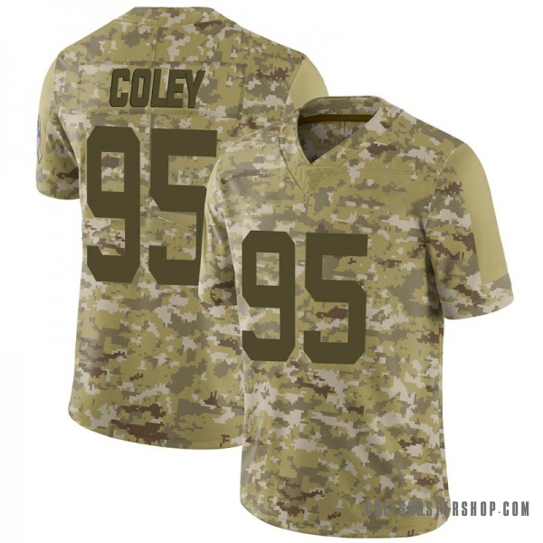 Men's Nike Indianapolis Colts Trevon Coley 2018 Salute to Service Jersey - Camo Limited