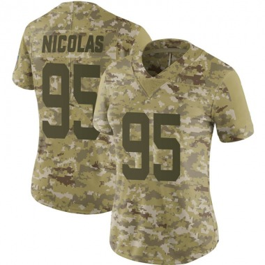 Women's Nike Indianapolis Colts Dadi Nicolas 2018 Salute to Service Jersey - Camo Limited