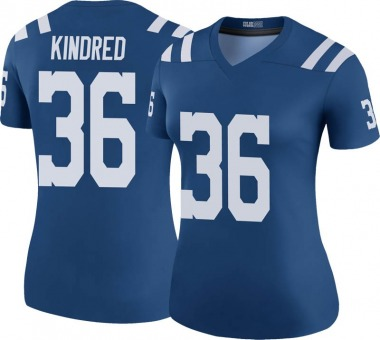 Women's Nike Indianapolis Colts Derrick Kindred Color Rush Jersey - Royal Legend