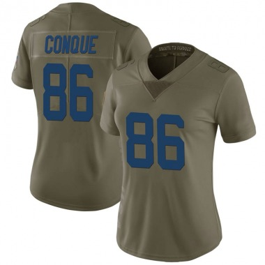 Women's Nike Indianapolis Colts Zach Conque 2017 Salute to Service Jersey - Green Limited