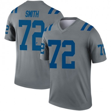 Youth Nike Indianapolis Colts Braden Smith Inverted Jersey - Gray Legend