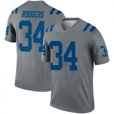 Youth Nike Indianapolis Colts Isaiah Rodgers Inverted Jersey - Gray Legend