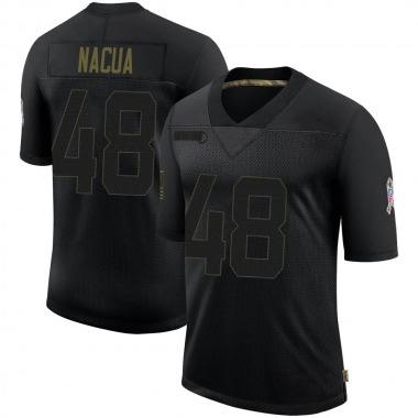 Youth Nike Indianapolis Colts Kai Nacua 2020 Salute To Service Jersey - Black Limited