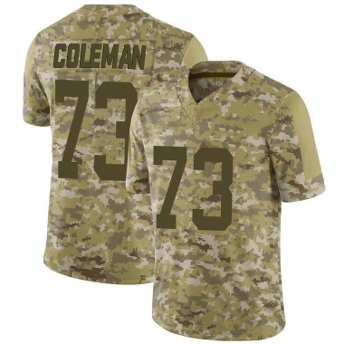 Youth Nike Indianapolis Colts Kendall Coleman 2018 Salute to Service Jersey - Camo Limited