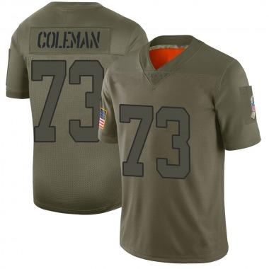Youth Nike Indianapolis Colts Kendall Coleman 2019 Salute to Service Jersey - Camo Limited