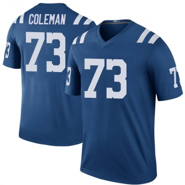 Youth Nike Indianapolis Colts Kendall Coleman Color Rush Jersey - Royal Legend